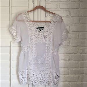 COLEEN LOPEZ lace blouse